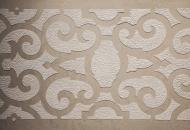Chiseled raised frieze polished