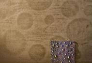 Embossed polished plaster